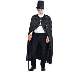 Capa negra estilo gótico o steampunk