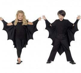 Capa o alas de murciélago o vampiro negras