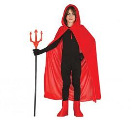 Capa roja con Capucha de 100 cm para niños