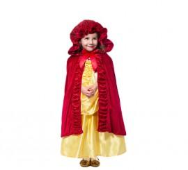 Capa Roja Deluxe con capucha para niña