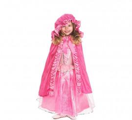 Capa Rosa Deluxe con capucha para niña