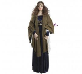 Capa Verde Medieval para mujer