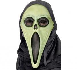 Careta con Capucha Scream Verde