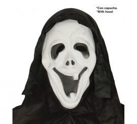 Careta de Asesino riendo con capucha