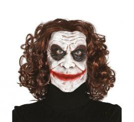 Masque de Bouffon ou Clown avec cheveux