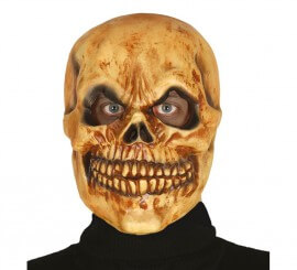 Masque de Squelette Orangé