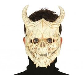 Masque de Squelette avec Cornes Terrifiant