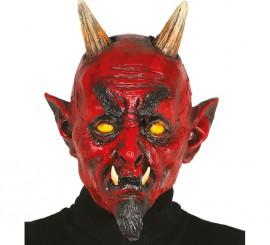 Masque de Démon ou Diable avec Barbiche