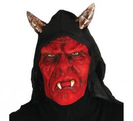 Masque Démon Rouge avec Capuche