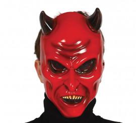 Masque de Diable ou Démon avec des cornes pour Halloween