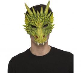 Careta de Dragón Verde de Foam