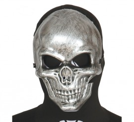 Careta de Esqueleto plateada