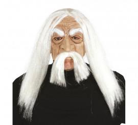 Masque de Génie ou Mathusalem avec Cheveux