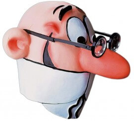 Careta de Mortadelo con gafas