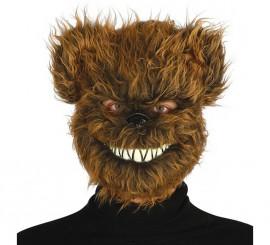 Masque d'ours méchant avec cheveux