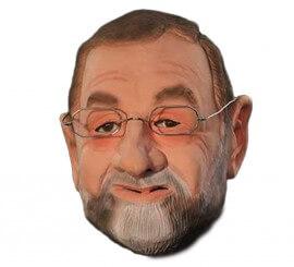 Careta de Rajoy. Incluye las gafas. Cabeza entera