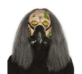 Masque de Zombie avec Masque à Gaz et Cheveux