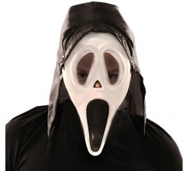 Careta Scream con capucha y brillo en oscuridad