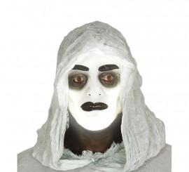 Careta transparente de hombre con efecto fluorescente