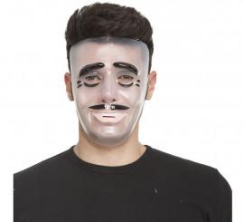 Masque d'Homme Transparent avec Moustache