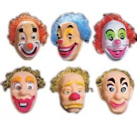 Masque de Clown avec cheveux pour adultes