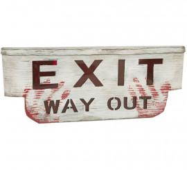 Cartel de Exit Terrorífico con luz y sonido de 48 cm