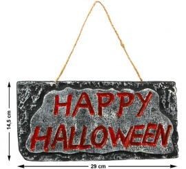 Cartel decorativo Happy Halloween 29X14 cm