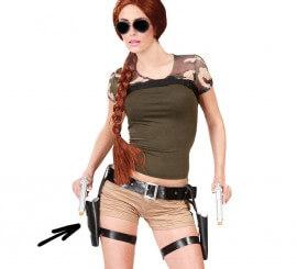 Cartuchera doble con pistolas