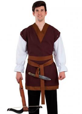 Costume ou veste marron médiéval pour homme