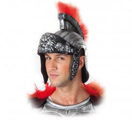 Casco de Soldado Romano Plateado con cresta