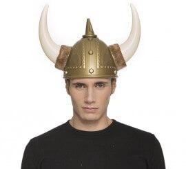 Casco de Vikingo con cuernos de Plástico