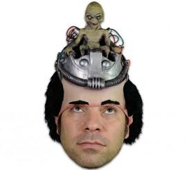 Casco o media máscara con pelo de Piloto Alien