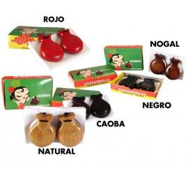 Castañuelas de madera en varios colores