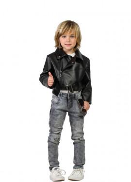 Cazadora de Rockero Negra para niño
