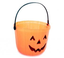 Cesta Calabaza de 19 cm. diámetro para Halloween