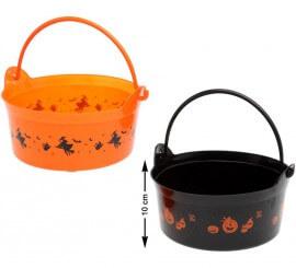 Seau pour Bombons Halloween 10x20 cm Disponible en 2 modèles