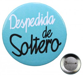 Chapa Despedida de Soltero de 5,7 cm de diámetro