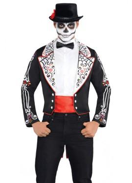Veste pour déguisement Mexicain Dia de los Muertos pour Halloween