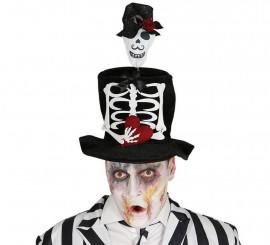 Chistera de hombre con adorno de Esqueleto