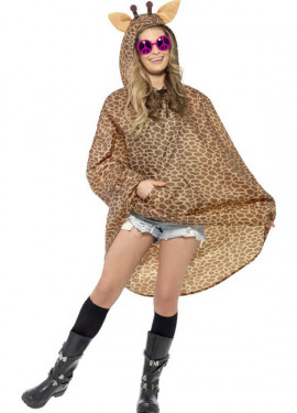 Imperméable Party Poncho Girafe