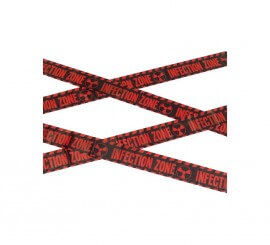 Cinta Infección zone: (zona de infección) Rojo y negro 6m