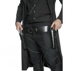 Cinturón con 2 Pistoleras Negro