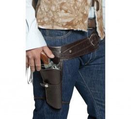 Cinturón Marrón con funda de pistola