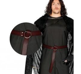 Cinturón Medieval color borgoña