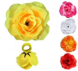 Coletero Flor Rosa en varios colores para Flamencas y Chulapas
