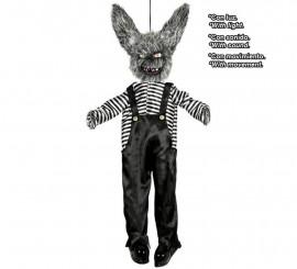 Colgante de Conejo con Luz, Sonido y Movimiento 130 Cm