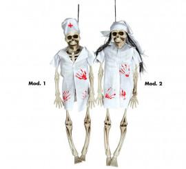 Colgante de Doctor o Enfermera esqueleto de 40 cm surtido