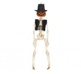 Colgante de Esqueleto calabaza de 40 cm
