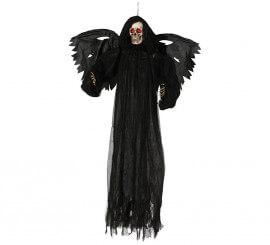 Colgante de esqueleto con alas y luz de 165 cm