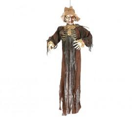 Colgante de Zombie o esqueleto con ratas de 150 cm